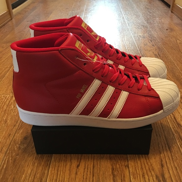 promo code dddc7 6dc0c adidas Other -  Adidas  Pro Model BY3726 Men s Red Shell Toe NEW